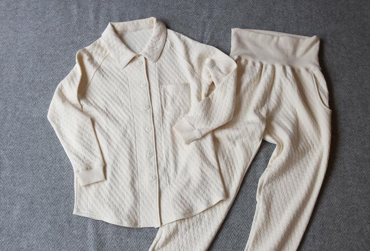 ニットキルト オーガニックコットンのパジャマ