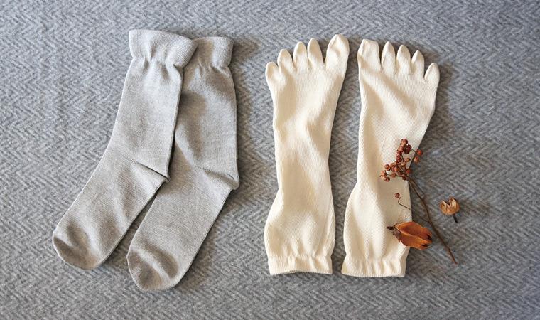 にそくでよんそくぶん靴下セット 絹と綿