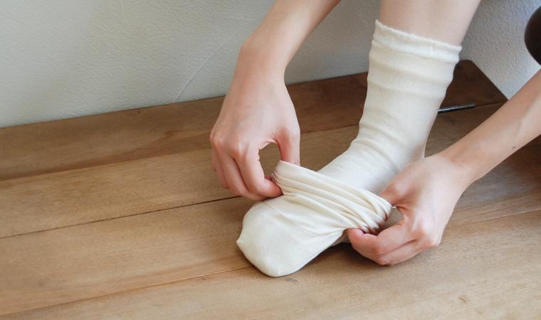ヤにそくでよんそくぶん靴下セット 絹と羊毛