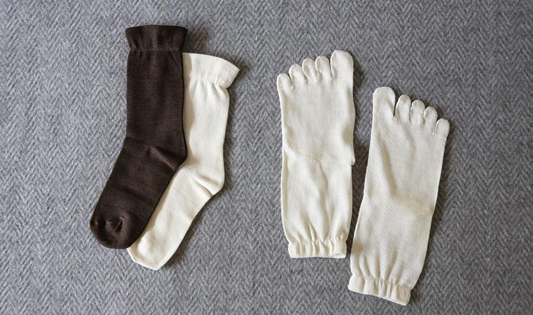 にそくでよんそくぶん靴下セット 絹と羊毛