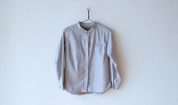 アルティメイトピマ ベーシックシャツ スタンドカラー