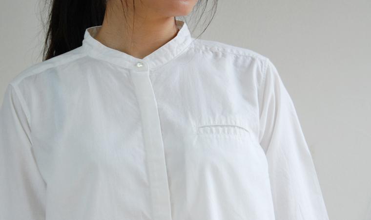 アルティメイトピマ スタンドカラーシャツ