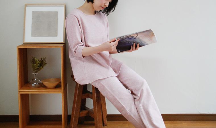 ミニ裏毛7分袖カットソー