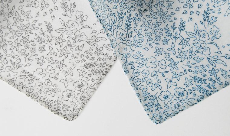 オーガニックコットン ストール Drawing flowers  <Basic>