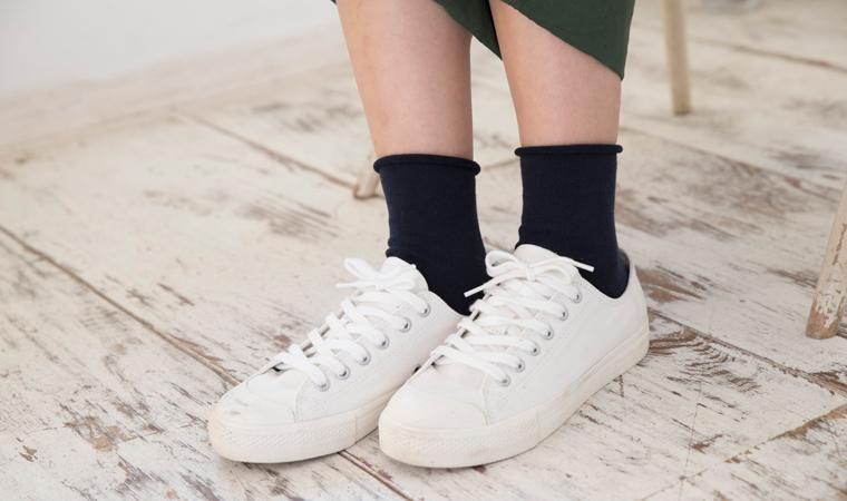 オーガニックコットン sors socks  (ソルズソックス くるくる)