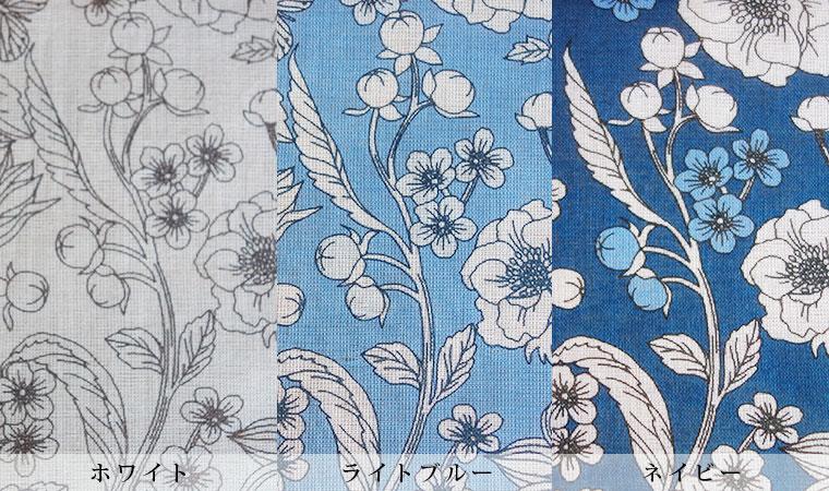 オーガニックコットン ラージハンカチーフ Drawing flowers  <Classical>