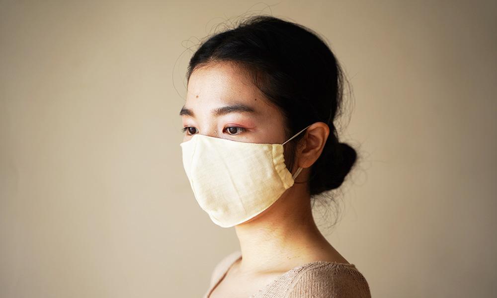 オーガニックコットンでつくった 立体マスク