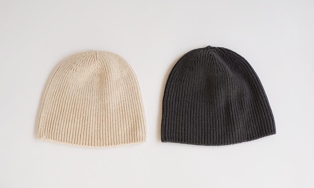 オーガニックコットンでつくった 縫い目のない ニット帽