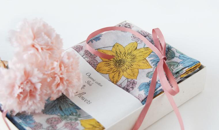 選べるストールギフト Drawing flowers