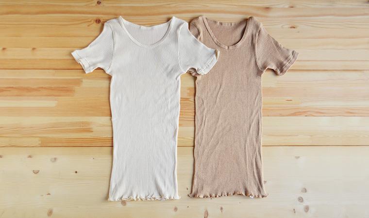リブ半袖シャツ